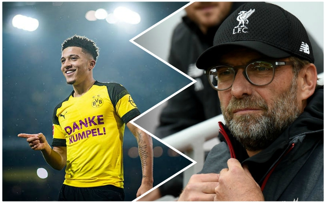 'On LFC's radar': Borussia Dortmund's Jadon Sancho confirmed as Reds target