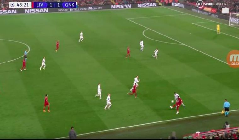 (Video) Origi mad skill: Div flicks ball over defenders head and spins him on the touchline