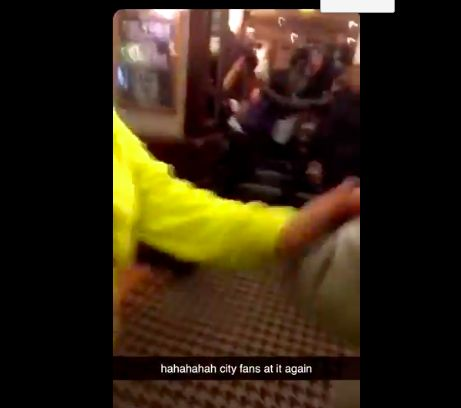 (Video) Viral Clip shows 'City fans' fighting in pub after LFC defeat