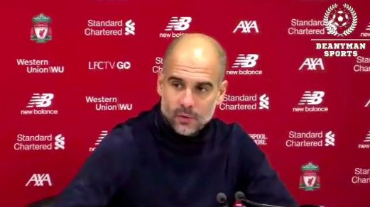(Video) Guardiola answers question about Ederson with sarcastic Klopp comment