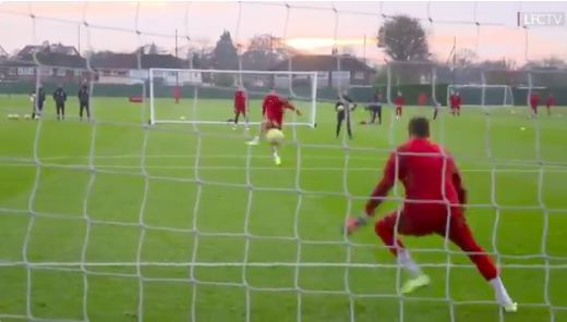 (Video) Milner smashing goals with left-foot at Melwood in preparation for Crystal Palace