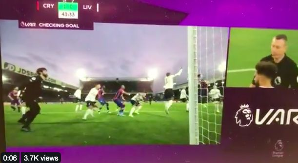 (Video) The push on Lovren that meant VAR disallowed Palace goal