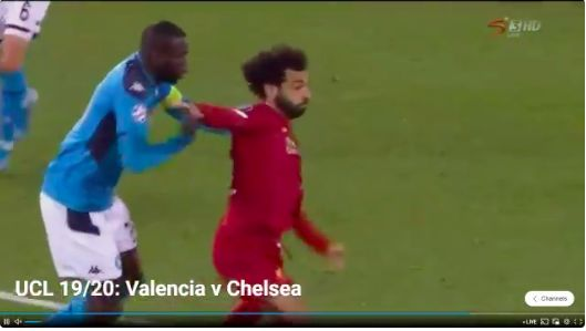 (Video) Salah manhandled by Koulibaly but pen somehow not given at Kop end