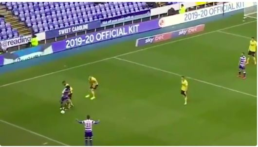 (Video) Reading fans go mad over Ovie Ejaria making a fool out of the Championship