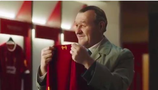 (Video) CGI Bob Paisley appears in current Liverpool dressing room in new ad