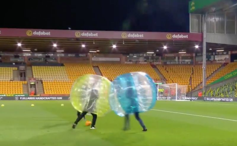 (Video) Brilliant: Jamie Carragher's analysis of his zorb football game with Gary Neville is hilarious