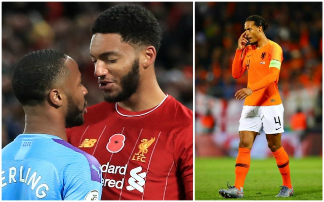 'Disappointing to see': Van Dijk sticks up for his Reds teammate Gomez after Sterling row