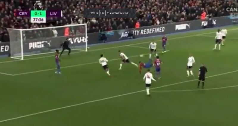 (Video) Some LFC fans held their breath as Benteke attempted the spectacular
