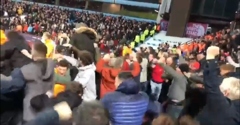 (Video) Mane's 95th-minute winner is even better from the stands; away end becomes sea of limbs