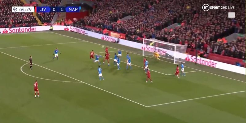 (Video) Lovren bags header & refuses to celebrate as Reds draw level v Napoli