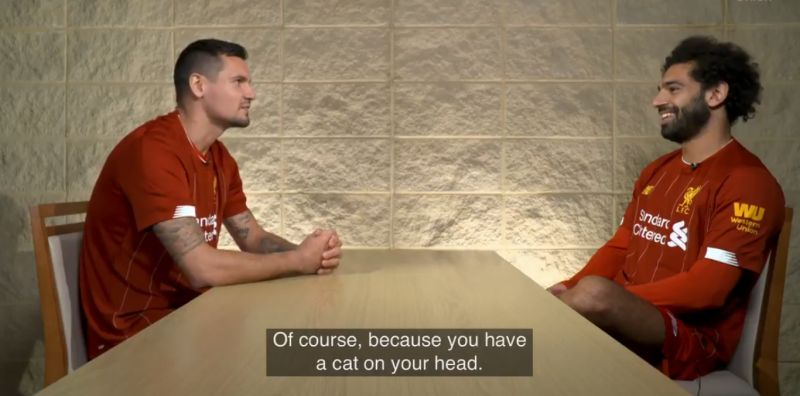 (Video) LFC fans will love Salah & Lovren trying to make each-other laugh