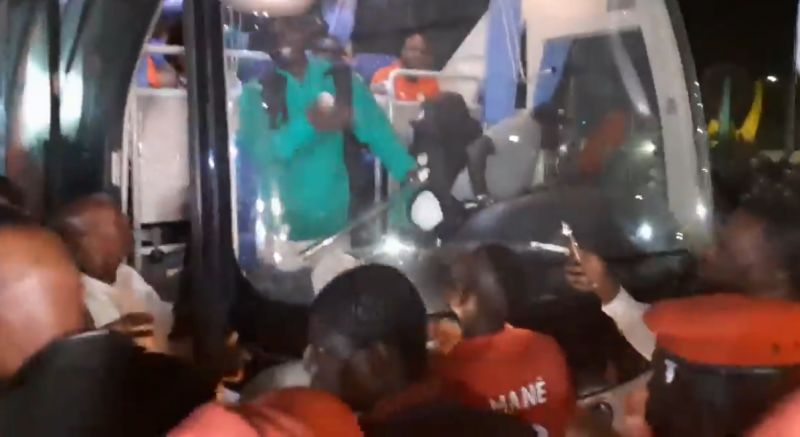 (Video) Nicest man in football Sadio Mane invites lookalike fan on Senegal team bus