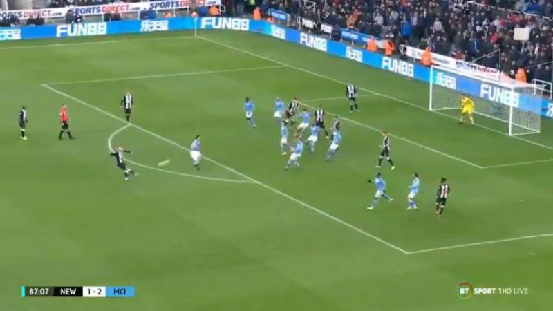 (Video) Jonjo Shelvey nets 88th minute goal to steal two points off Man City