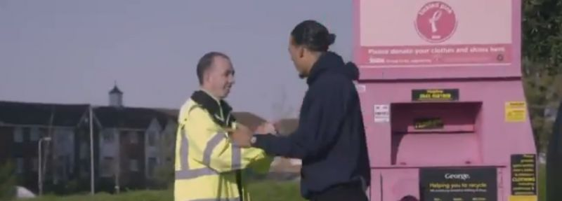 (Video) Virgil van Dijk surprises lifelong Liverpool fan at work in heartwarming clip