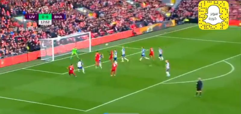 (Video) Big Virgil opens the scoring for LFC against Brighton with thumping header