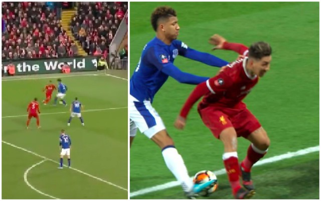 Firmino punishes Holgate two years later for pushing him into boardings with most savage skill of the season