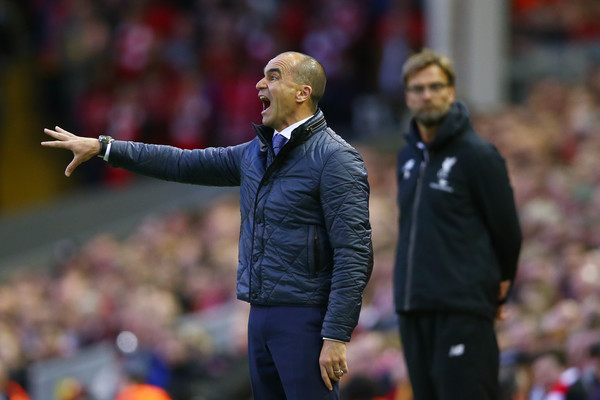 Klopp sends message to Roberto Martinez, who was at Anfield on Wednesday