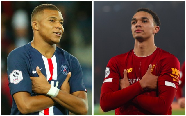 Kylian Mbappe 'likes' Trent Alexander-Arnold copying his celebration