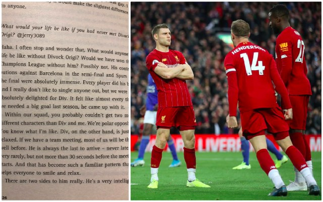 Milner shares hilarious but humbling Origi stories in his new book