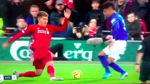(Video) Great new angle of Firmino ending Holgate's career shown on Amazon