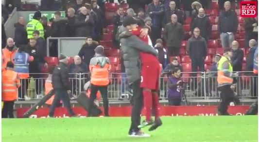(Video) Klopp holding Sadio Mane aloft for an age is pure appreciation
