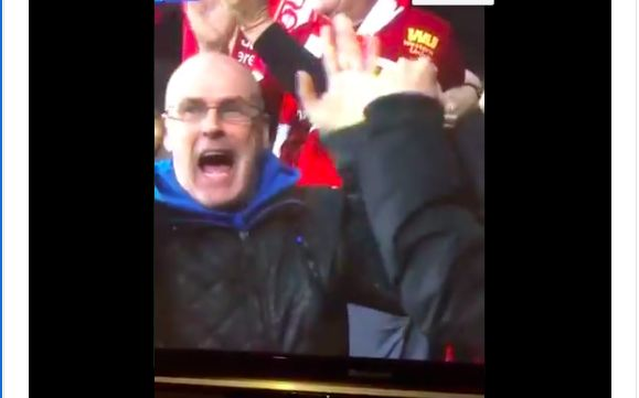 (Video) LFC fan does Pickford 'Little Arms' celebration after Origi banger