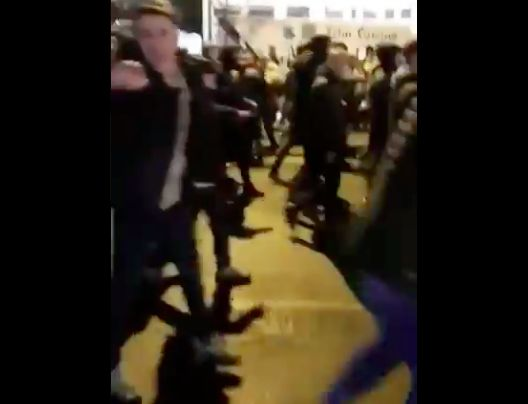 Video emerges of Everton fans en masse chanting 'Murderers'
