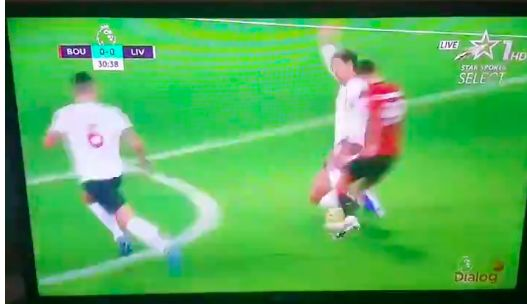 (Video) Van Dijk sits down Solanke with serious tackle as ex-Red ran through