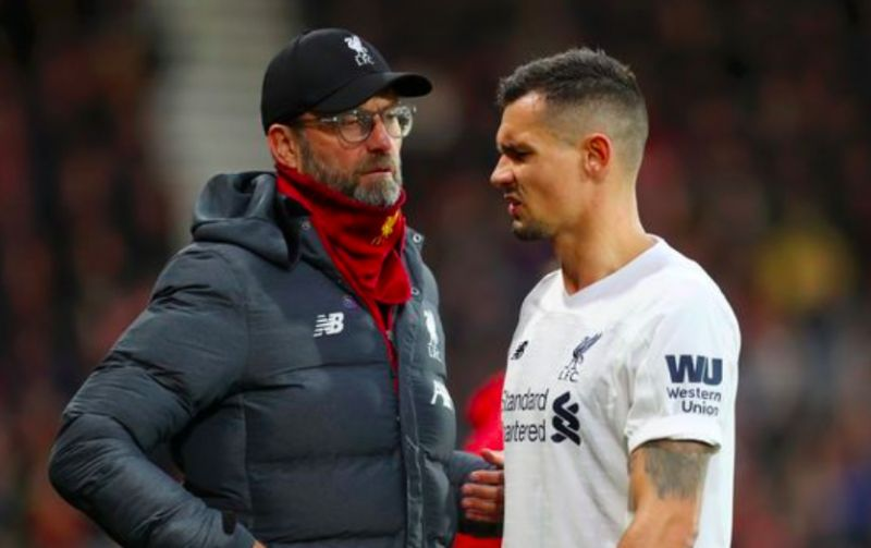 Lovren has 'muscle injury' & Klopp admits it's a 'worry' with Reds down to two CBs
