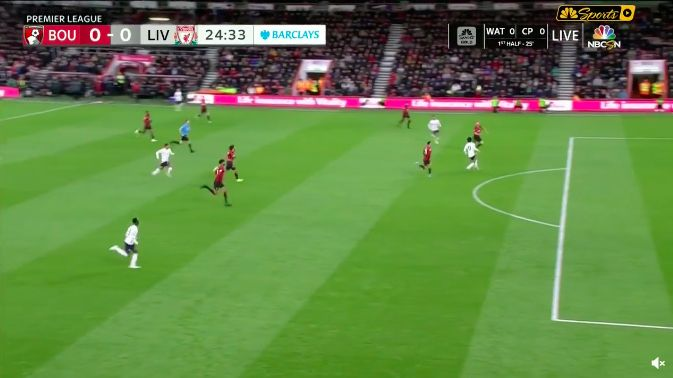(Video) Salah's insane touch v Bournemouth as Mo puts in best performance in some time