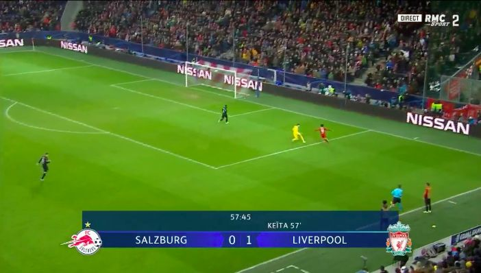 (Video) Mo Salah wondergoal: Egyptian King bags from absurd angle v Rb Salzburg