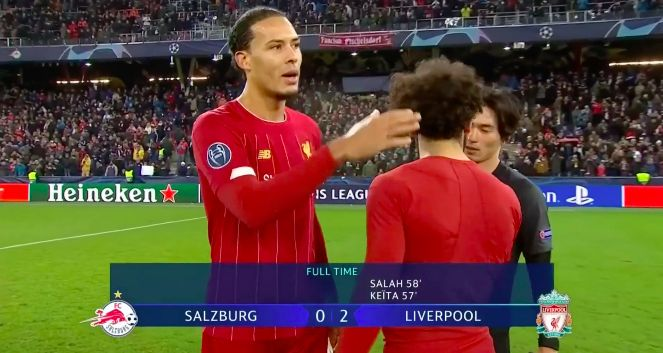 (Video) Eagle-eyed Reds spot Minamino winking at Salah after Tuesday's game