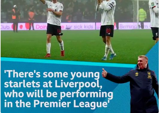 Dean Smith explains what he said to LFC's youngsters & makes prediction for their future