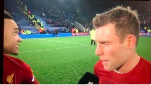 (Video) Trent's reaction to LFC fans blaring his song is so genuine