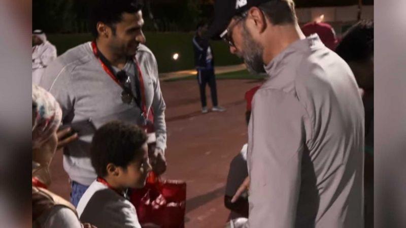 (Video) Jurgen Klopp greets shy Liverpool fan in Qatar in heart-warming clip