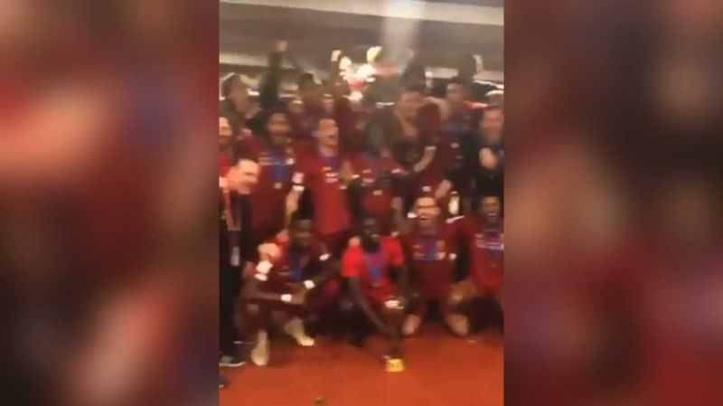 (Video) LFC squad singing 'Allez Allez Allez' in changing room after Club World Cup win is best thing you'll see today