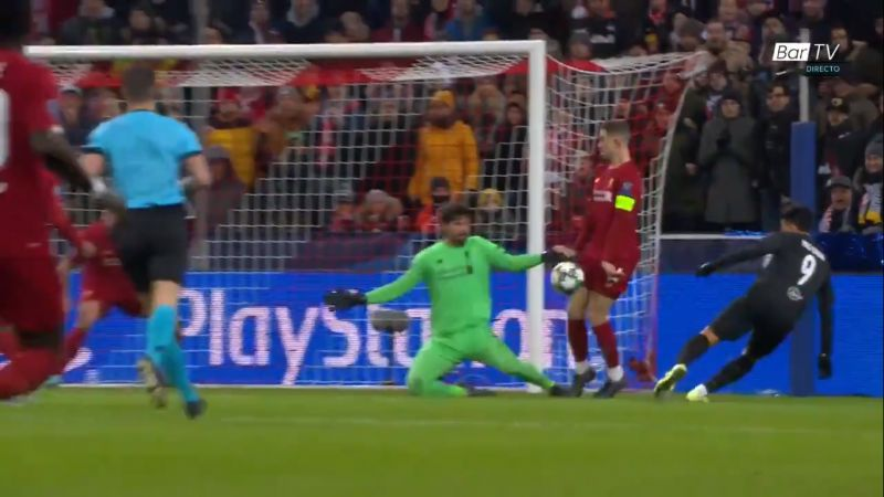 (Video) Alisson pulls off brilliant double save to deny Salzburg early on