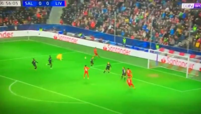 (Video) Mane leaves Salzburg defence in the dust; as Keita heads LFC in front