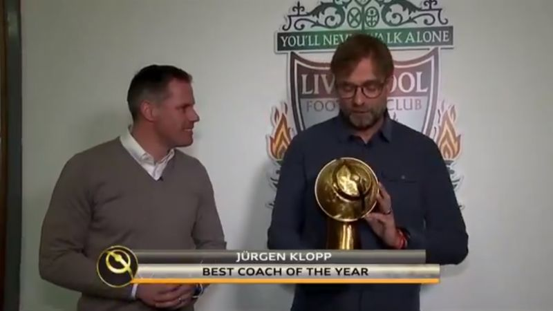 (Video) Klopp named 'best best coach in the world' at ceremony in Dubai