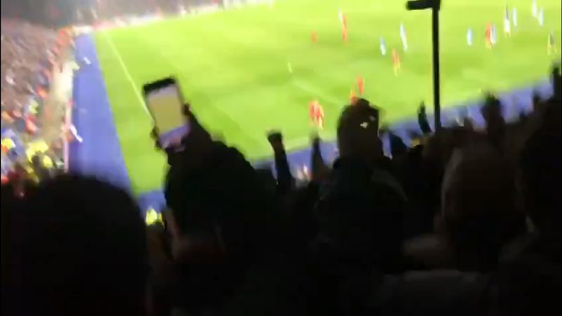 (Video) LFC fan throws crutch in the air as Milner nets penalty v. Leicester