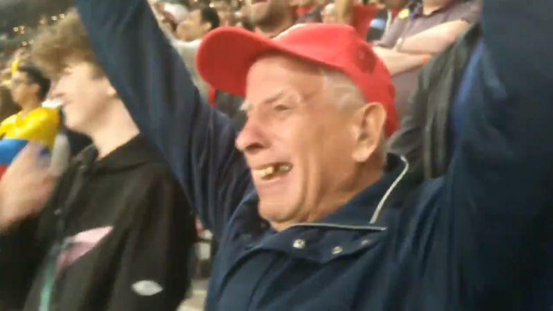 (Video) Tearful elderly LFC fan singing 'Allez Allez Allez' in Qatar will pull on your heart strings