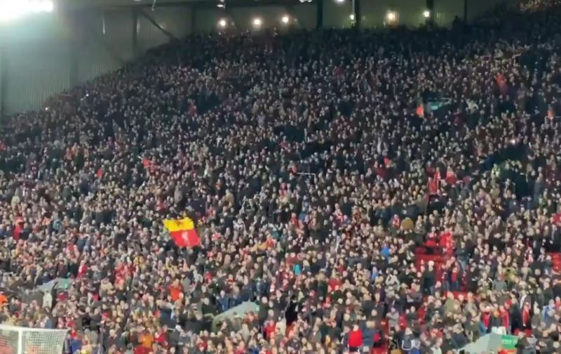 (Video) Liverpool fans sing Merry Christmas to Everton supporters during Merseyside Derby