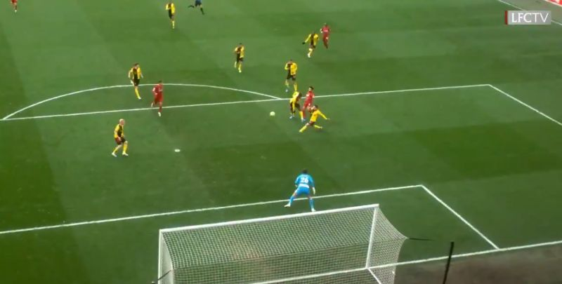 (Video) New angle of Salah's opener v. Watford shows how dangerous our front three are
