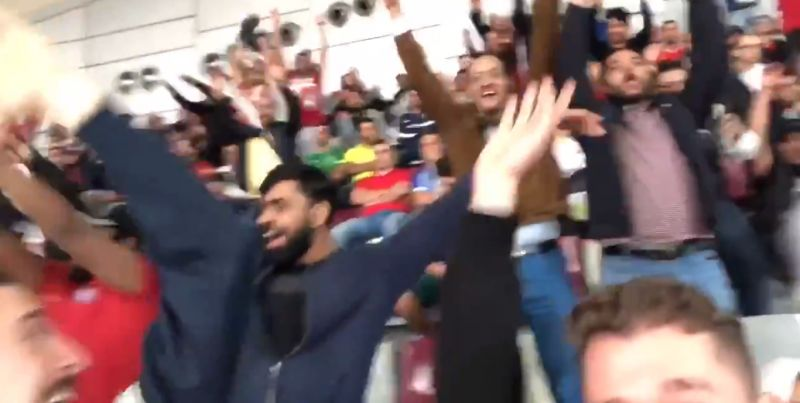 (Video) Celeb LFC fan David Vuj starts Mexican wave v. Monterrey in Qatar