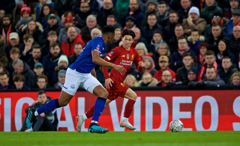 """""""What a player"""" – LFC fans react to Minamino debut against Everton in the FA Cup"""