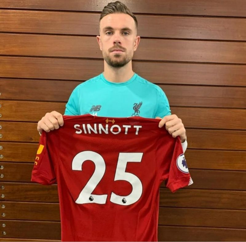 Jordan Henderson & Steven Gerrard show support for Jordan Sinnott football shirt appeal
