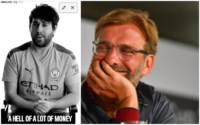 (Video) Manchester City fan claims Liverpool have bought the title, despite £72m net-spend in 5 years