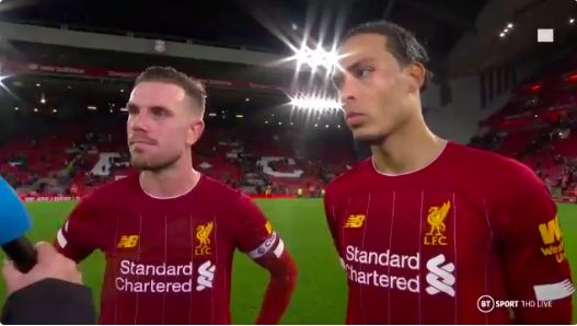 (Video) Hendo shuts down Invincibles question & van Dijk says we must improve