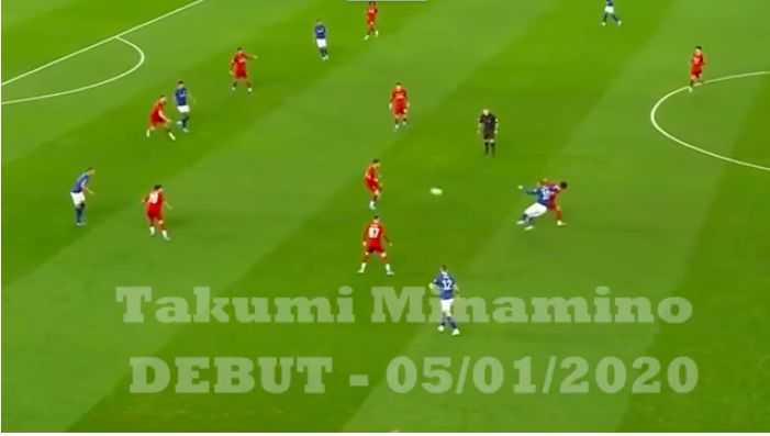 (Video) Minamino highlights v Everton: Japan star makes Anfield bow and shows promise