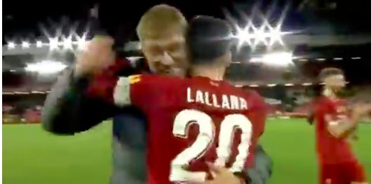 (Video) Klopp thought Lallana was so good v Everton he doffed his cap
